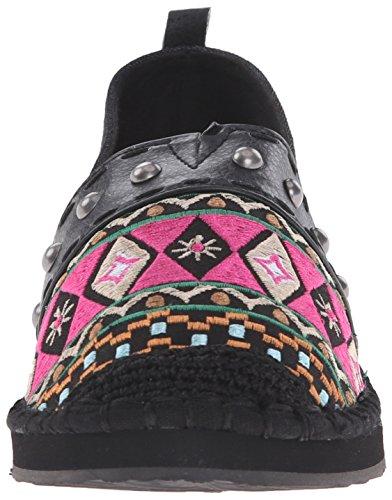 The SAK Womens Echo Tribal Ballet Flat Black Embroidery HN9N9s