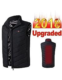 Imixshop Men's Lightweight Insulated Heated Vest USB Electric Heating Waistcoat Vest