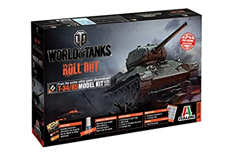 Italeri Model Kit - World Of Tanks T-34/85 - 1:35