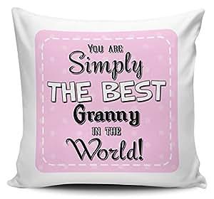 You son simplemente la mejor abuela en el mundo–Funda para cojín, color rosa