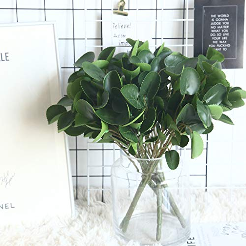 (m·kvfa Artificial Plants Fake Leaf Foliage Bush Home Office Garden Flower Wedding Decor Farmhouse Greenery Springs for Farmhouse Patio Indoor Outdoor Decoration)