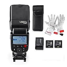 Godox Ving V860N I-TTL Li-ion Flash Speedlite with 1 Extra 2000mAh Battery for Nikon Cameras