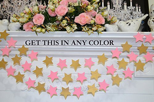 star garland gold and pink star banner birthday garland decoration baby shower bridal