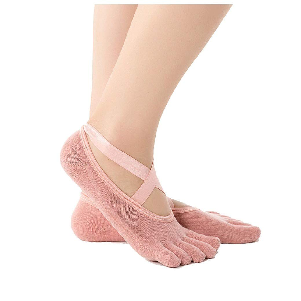 Howme Womens Yoga Sports Cotton Breathable Non Slip Sox 8-Pack