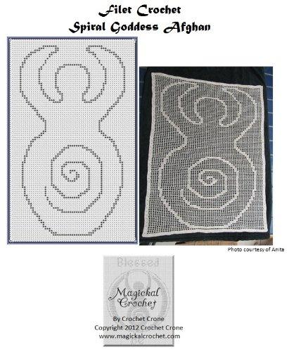 Filet Crochet Afghan Patterns (Spiral Goddess Filet Crochet Afghan Pattern)