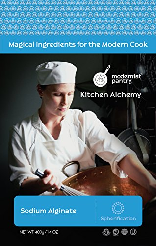 Food Grade Sodium Alginate (Molecular Gastronomy) ⊘ Non-GMO ☮ Vegan ✡ OU Kosher Certified - 400g/14oz by Modernist Pantry