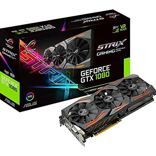 chollos oferta descuentos barato ASUS STRIX GTX1080 A8G GAMING Tarjeta gráfica Strix NVIDIA GeForce GTX 1080 8 GB GDDR5X DVI HDMI DP Color Negro
