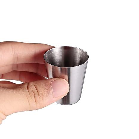 Amazon.com: Juego de 4 tazas de cerveza de acero inoxidable ...