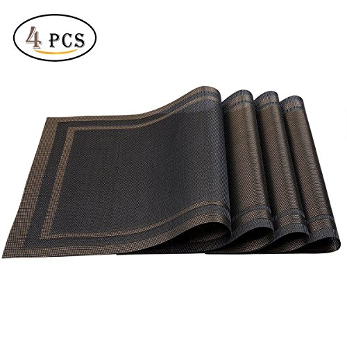 Stain Resistant Non-slip heat protection Table Mats Washable