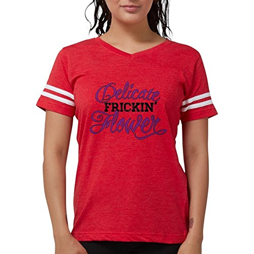 CafePress - DFF Women's Cap Sleeve T-Shirt - Womens Football Shirt Red