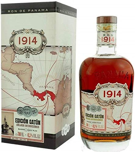 1914 EDICION GATUN BARREL AGED RUM 70 CL IN ASTUCCIO: Amazon ...