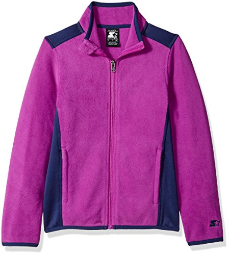 Starter Girls' Polar Fleece Jacket, Amazon Exclusive, Pro Purple, XL (14/16)