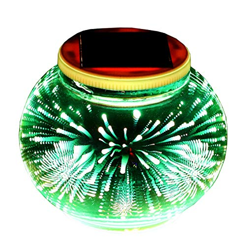 Solar Table Lights, Aukora 3D Firework Pattern Color Changing Solar Powered Ball Garden Light Waterproof Sola Night Light Outdoor/Indoor for Patio Garden Christmas Halloween Decoration, Ideal Gifts