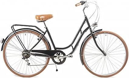 Bicicleta de Paseo Capri Berlin 6 velocidades - Negro: Amazon.es: Deportes y aire libre