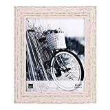 Kiera Grace Maya Picture Frame, 8 by 10-Inch, Weathered White Beachwood
