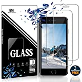 iPhone 8 Plus/7 Plus/6S Plus/6 Plus Screen Protector by EESHELL,[2 Pack] 9H Hardness Tempered Glass,HD Clarity,Bubble-Free,3D-Touch,Easy-Install,Clear Anti-Bubble Film for iPhone 8P/7P/6SP.