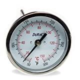 H-B DURAC Bi-Metallic Dial Thermometer; 10 to 150C (50 to 300F), 1/2 in. NPT Threaded Connection, 75mm Dial (B61310-7800)