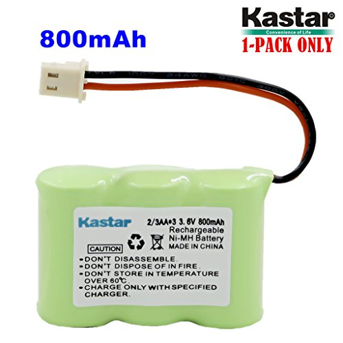 Kastar 1-Pack 2/3AA 3.6V 800mAh 5264 Ni-MH Rechargeable Battery for Home Phone V-Tech 80-1338-00-00 89-1332-00-00 89-1338-00 BT-17333 BT-27333 BT-17233 BT-27233 BT-163345 BT-263345 Cordless Telephone