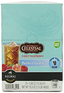 Green Mountain Sweet Raspberry Black Perfect Iced Tea, K-Cup Portion Pack for Keurig K-Cup Brewers, 24-Count