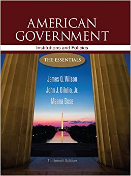 American government institutions and policies 13th edition