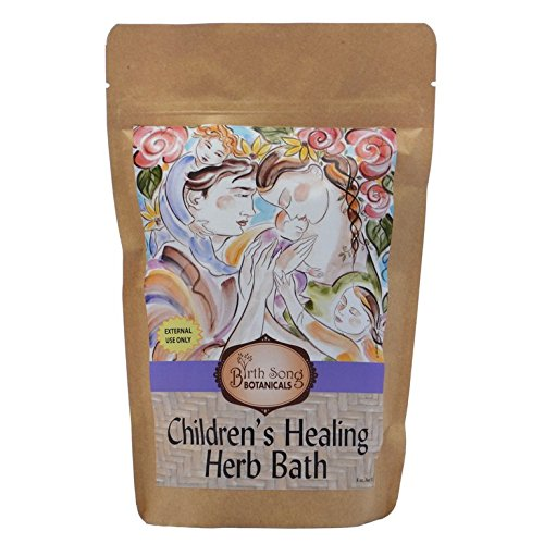 Birth Song Botanicals Children's Healing Herb Bath for Soothing Allergy, Cold & Other Respiratory Conditions, 8 oz by Birth Song Botanicals