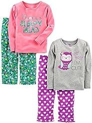 Simple Joys by Carter's Baby Girls' Toddler 4 Piece Paj