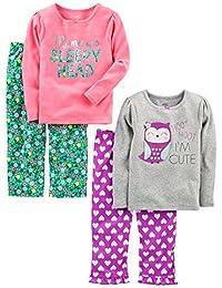 Simple Joys by Carter's Baby Girls' Toddler 4 Piece Pajama Set,