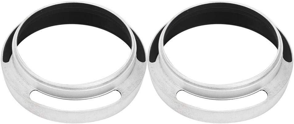 Topiky Gegenlichtblende 2Stk 52mm Aluminiumlegierung Silber Gegenlichtblende Ersatz f/ür Leica Kamera