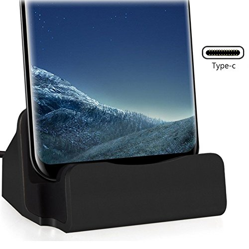 USB C Charging Dock,LEXEBY1 Charging Dock,Desktop Charger Cradle Compatible OnePlus 5, Nexus 6P/5X, Moto Z/Z Play, LG G5, HTC 10 and Other Type C Devices.(Black)