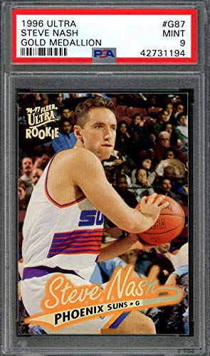 (1996-97 ultra gold medallion #g87 STEVE NASH phoenix suns rookie card PSA 9 Graded Card)