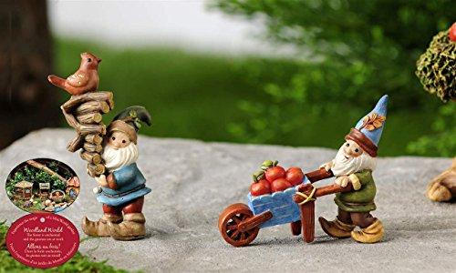 Woodland Gnome (Mini Garden Woodland Gnome Rustic Fairy Statues Miniature Dollhouse Accent)