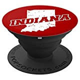 Bloomington, Indiana Red and White Pop Socket - PopSockets Grip and Stand for Phones and Tablets