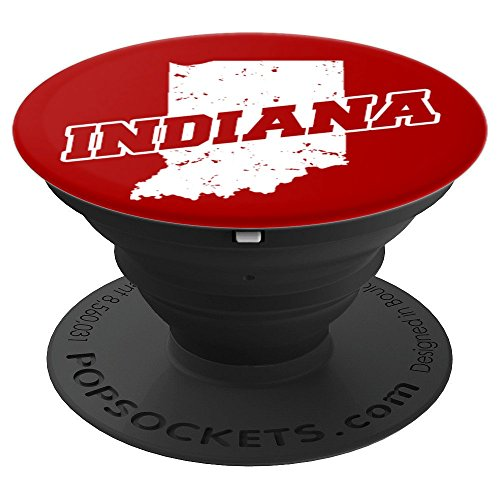 Indiana University Watch - Bloomington, Indiana Red and White Pop Socket - PopSockets Grip and Stand for Phones and Tablets