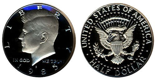 1985 S Gem Proof Kennedy Half Dollar US Coin 1/2 DCAM US ()