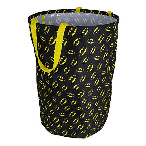 Batman Collapsible Kids Laundry Hamper by DC Comics - Pop Up Portable Childrens Clothes Basket for Closet, Bedroom, Boys & Girls Clothes - Foldable Laundry Bin with Strong Handles & Design