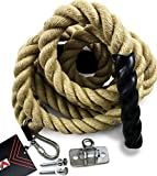 Valorem Sports Workout Gym Climbing Rope - Training Rope for Fitness Exercise - Hanger Included (15 FT)