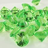 Homeford 50-Piece Acrylic Diamond Gemstone Table Scatter, Apple Green, 3/4-Inch