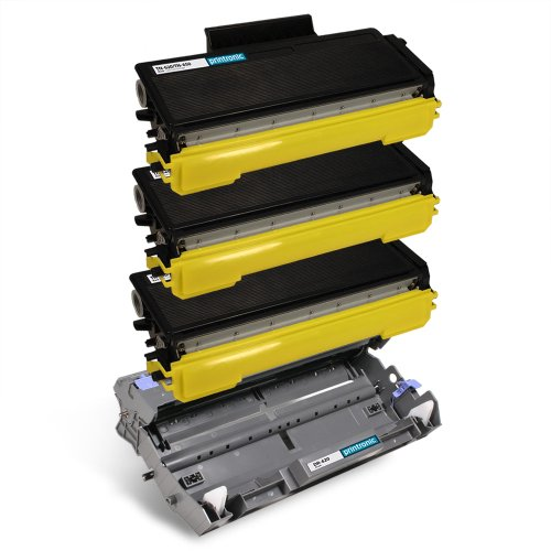 (Printronic Compatible Toner Cartridge Replacement for Brother TN-650 TN650 DR-620 DR620 (3 Black 1 Drum) 4 Pack for DCP-8050DN DCP-8080DN DCP-8085DN HL-5340D HL-5350DN HL-5350DNLT HL-5370DW HL-5370DWT HL-5380DN MFC-8370 MFC-8480DN MFC-8680DN MFC-8690DW MFC-8880DN MFC-8890DW)