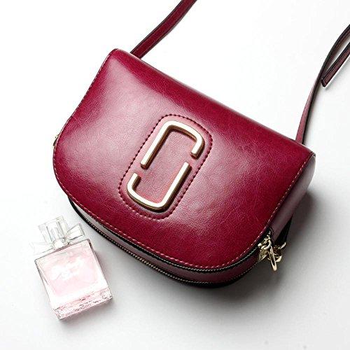 Aoligei Sac en cuir fille sac nouveau style shell sac sac femme sac d'épaule oblique simple B