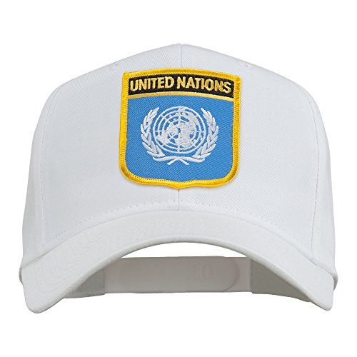 United Nations Flag Shield Patched Cap -