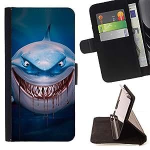 Momo Phone Case / Flip Funda de Cuero Case Cover - Sangre Evil Blue Dive personaje de dibujos animados - LG G4 Stylus H540