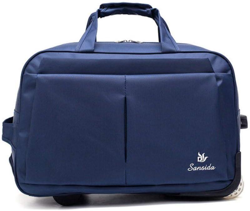 LJQLXJ Caja de la Carretilla Equipaje Trolley Bag Bolsa de Viaje de Gran Capacidad con Ruedas para Mujeres Hombres Maleta de Viaje Duffle Carry, 1