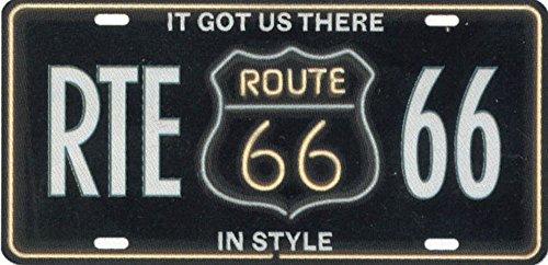 Nummernschild Blechschild License Plate Route 66 USA (RTE66)