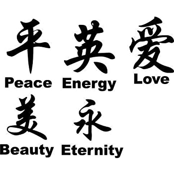 Chinese Symbols Wall Decals Stickers Art Chinese Vinyl Graphics