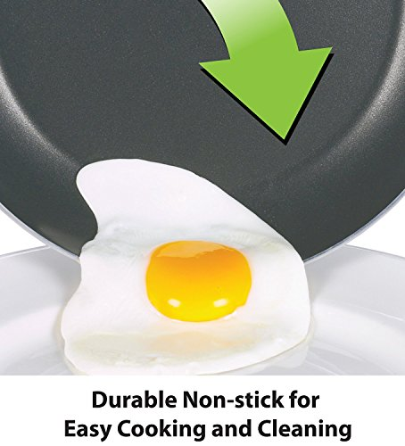 MIRAGE Non-Stick Frying Searing Pan, 9 1/2 Inch (24 cm) Skillet Cookware, Sauté Pan, Omelet Pan, Oven Safe& Dishwasher Safe, Easy Clean