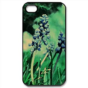 Muscari Watercolor style Cover iPhone 4 and 4S Case (Flowers Watercolor style Cover iPhone 4 and 4S Case)