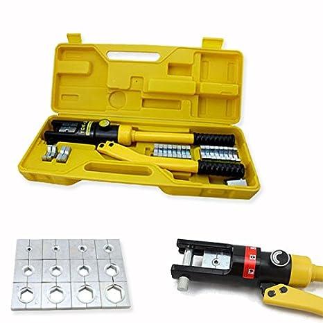HG® Alicate hidráulico Engaste Herramienta de prensa. Cable Guantes hidráulico 10 hasta 300 mm²: Amazon.es: Bricolaje y herramientas