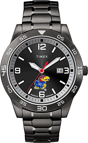 Kansas Jayhawks Watch - Timex Kansas Jayhawks KU Men's Black Acclaim Watch