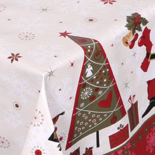 WACHSTUCH TISCHDECKE abwischbar Meterware, Größe wählbar, 220x140 cm, Glatt Weihnachten Bescherung