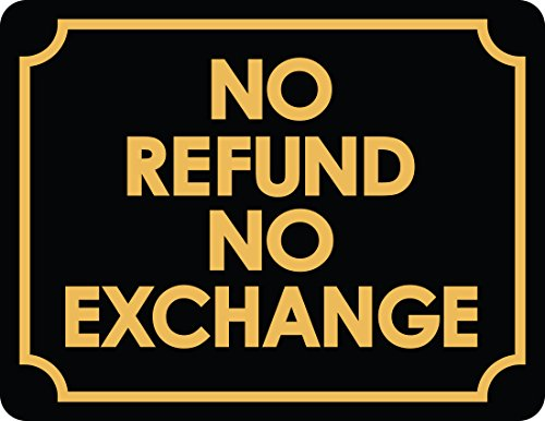 No Refund Or Exchange Business Sign Retail Store Policy - Policy Store